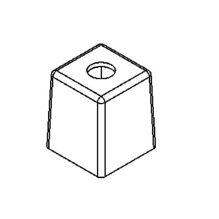 Drawing of GL2581S/.. - GLASS G4, glas - silk satijn kubus