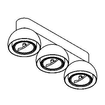 Drawing of 1813/.. - OLIVIA, opbouw plafondverlichting - vast - met transfo - met LED driver