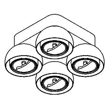 Drawing of 1816/.. - OLIVIA, opbouw plafondverlichting - vast - met transfo - met LED driver