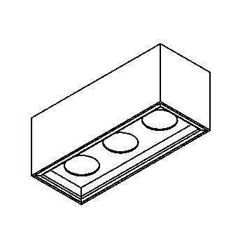 Drawing of 1703.ES50/.. - BETAPLUS, opbouw plafondverlichting - vast - down