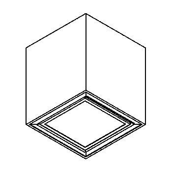 Drawing of 1711.ES50/.. - BETAPLUS, plafonnier apparent - down - avec verre