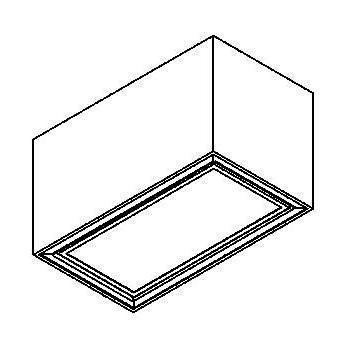Drawing of 1712.ES50/.. - BETAPLUS, opbouw plafondverlichting - down - met glas