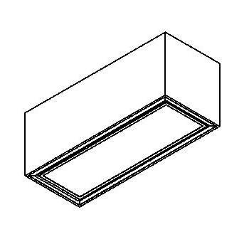 Drawing of 1713.ES50/.. - BETAPLUS, opbouw plafondverlichting - down - met glas