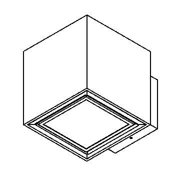 Drawing of 1753.ES50/.. - BETAPLUS, opbouw wandlicht - vierkant - vast - down - met glas