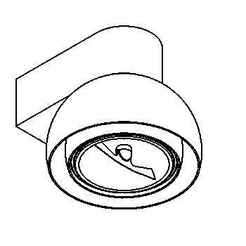 Drawing of 1819.DOWN/.. - OLIVIA, opbouw wandlicht - richtbaar - met transfo - met LED driver