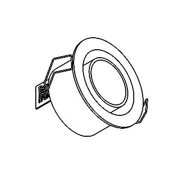 Drawing of 1346.S1/.. - OSCAR, Einbau Wandleuchte - mit Glas - ohne Driver LED