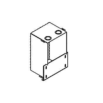 Drawing of 1347C/.. - OSCAR, inbouwdoos - met plaats voor driver - voor S2 veren
