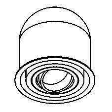 Drawing of 1840.DISCO/.. - OLIVIA, inbouwspot - rond - richtbaar - disco richtbare spot inbegrepen - zonder transfo - zonder LED driver