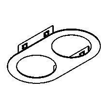 Drawing of 1845/.. - OLIVIA, inbouwbasis voor cassette - rond