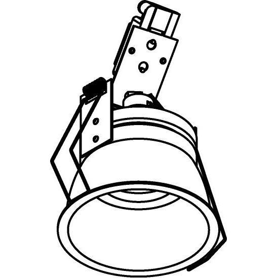 Drawing of 1479.DICRO.S1/.. - KOZA, inbouwspot - rond - richtbaar - zonder transfo