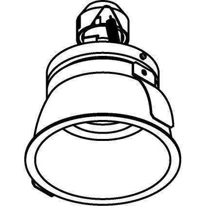 Drawing of 1479.DICRO.S2/.. - KOZA, inbouwspot - rond - richtbaar - zonder beugel - zonder transfo