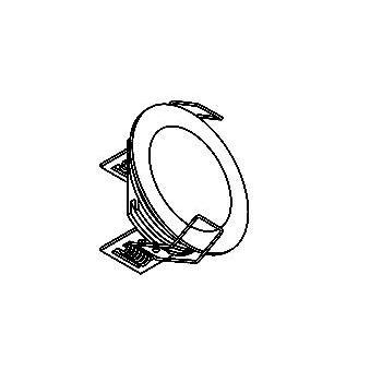 Drawing of 1355.S1/.. - CESAR, inbouw plafond- en wandlicht - rond - aansluiting met lusterklem  - zonder LED driver