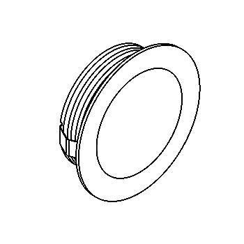 Drawing of 1355.S2/.. - CESAR, inbouw plafond- en wandlicht - rond - aansluiting met lusterklem - zonder LED driver