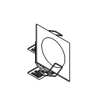 Drawing of 1354.S1/.. - CESAR, inbouw plafond- en wandlicht - vierkant - aansluiting met lusterklem  - zonder LED driver