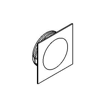 Drawing of 1354.S2/.. - CESAR, inbouw plafond- en wandlicht - vierkant - aansluiting met lusterklem  - zonder LED driver