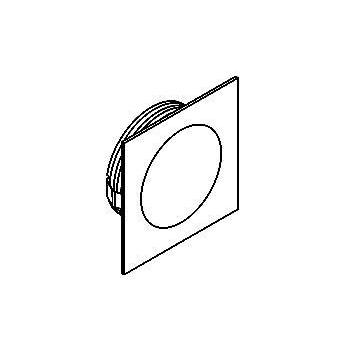 Drawing of W1354.S2/.. - CESAR, inbouw plafond- en wandlicht - vierkant - aansluiting met 1,5m kabel  - zonder LED driver
