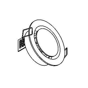 Drawing of 1345.S1/.. - OSCAR X, inbouw wandlicht - met inox middenplaatje - zonder LED driver