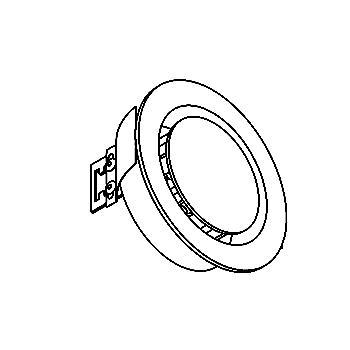Drawing of 1345.S2/.. - OSCAR X, inbouw wandlicht - met inox middenplaatje - zonder LED driver