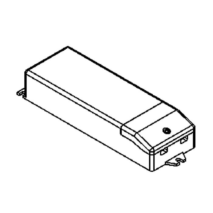 Drawing of VLMPTDCC15.350MA/.. - DRIVER constant current, driver - 12W 350mA- voor 12 leds x 1W - in serie
