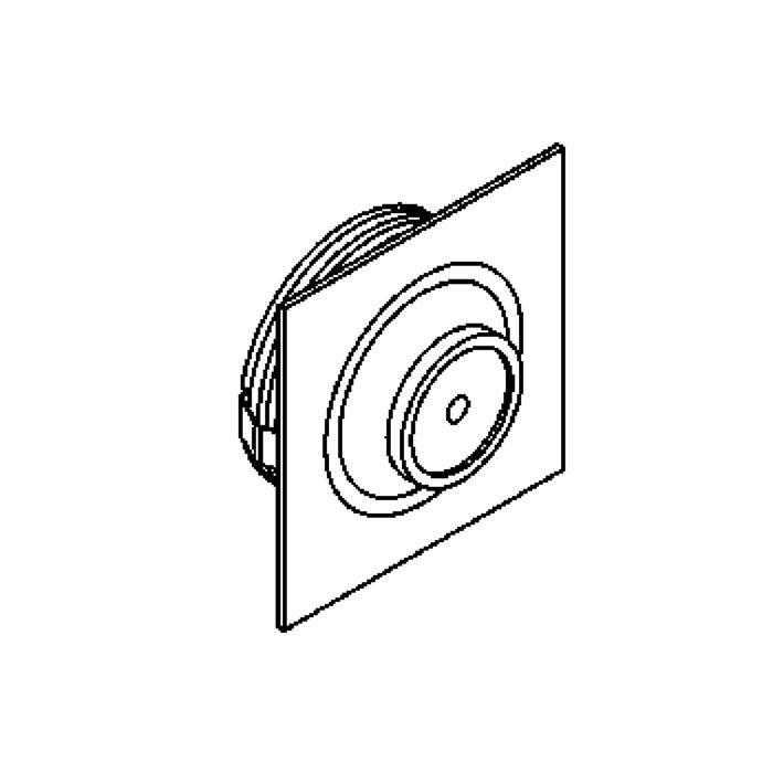 Drawing of 1357.S2/.. - CESAR X, inbouw plafond- en wandlicht - vierkant - down - aansluiting met lusterklem - met optische lens in een alu behuizing - zonder LED driver