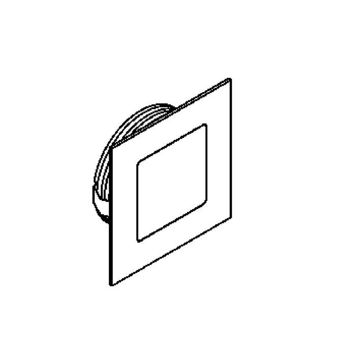 Drawing of 1358.S2/.. - CESAR, inbouw plafond- en wandlicht - vierkant - aansluiting met lusterklem  - zonder LED driver