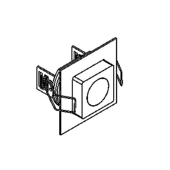 Drawing of 1359.S1/.. - CESAR X, inbouw plafond- en wandlicht - vierkant - down - aansluiting met lusterklem - met optische lens in een alu behuizing - zonder LED driver