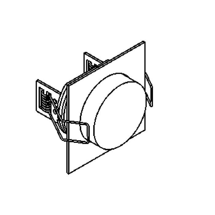Drawing of W1361.S1/.. - CESAR X, inbouw plafond- en wandlicht - vierkant - aansluiting met 1,5m kabel - met optische lens in een plexi omhulsel - zonder LED driver
