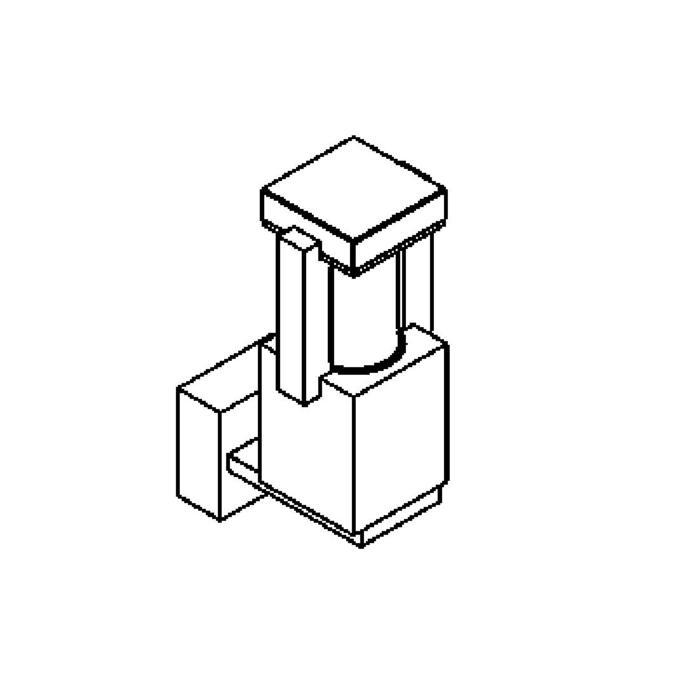 Drawing of W299/.. - PORTO, opbouw wandlicht - standaard gezandstraald wit glas