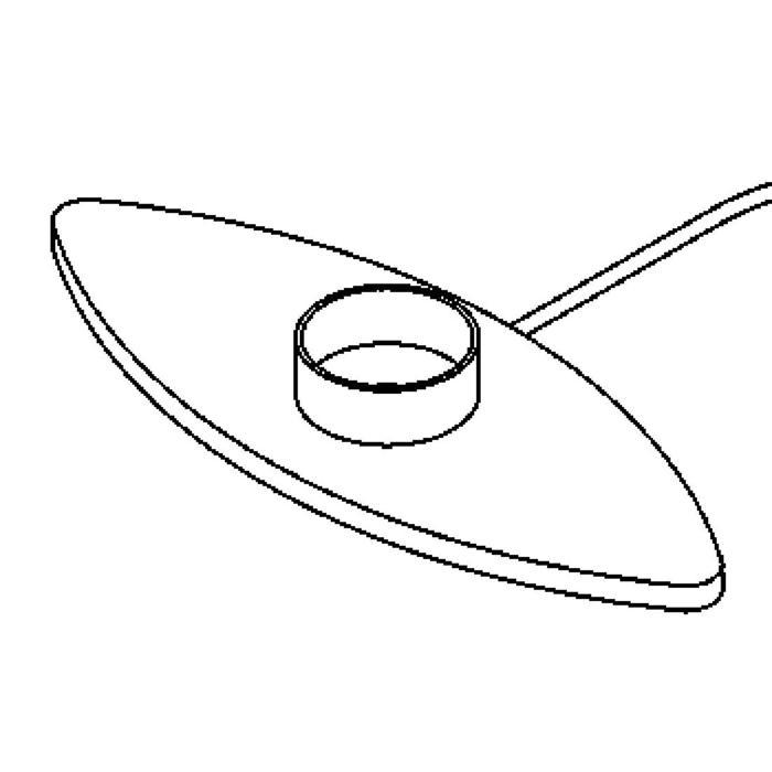 Drawing of 1542.A/.. - WING, tafellamp - enkel basis met lampfitting - met schakelaar + snoer