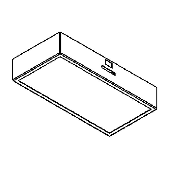 Drawing of CASECHO.2.DICRO/.. - BETA SYSTEM, inbouwcassette - vierkant - vast - met glas - zonder transfo