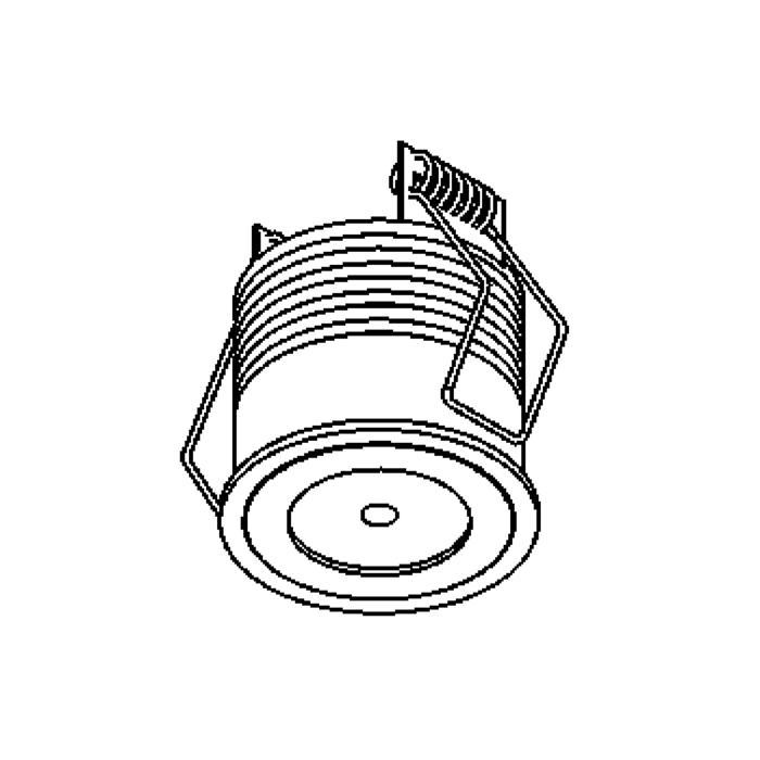 Drawing of 1370/.. - FELIX, inbouwspot voor verandaprofielen - rond - vast - down - zonder LED driver