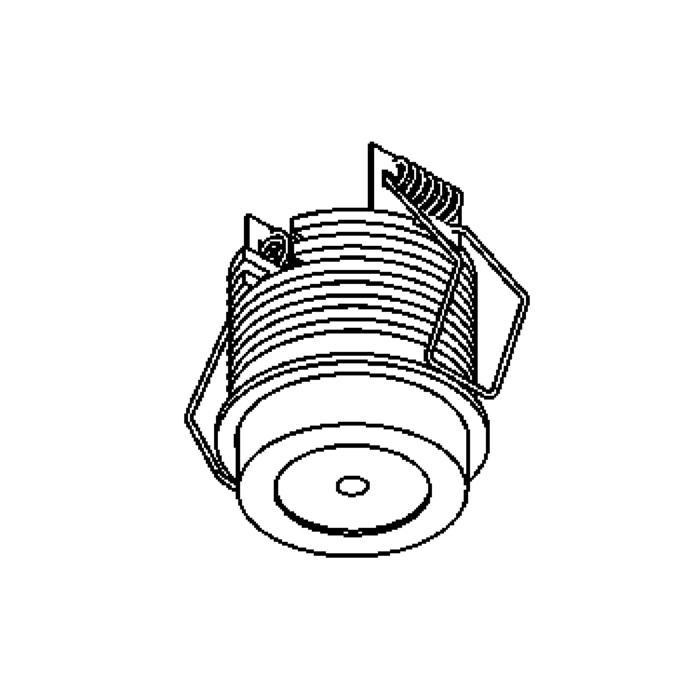 Drawing of 1372/.. - FELIX, inbouwspot voor verandaprofielen - rond - vast - down - met optische lens in plexi behuizing - zonder LED driver