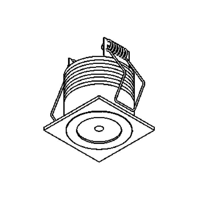 Drawing of 1374/.. - FELIX, inbouwspot voor verandaprofielen - vierkant - vast - down - zonder LED driver