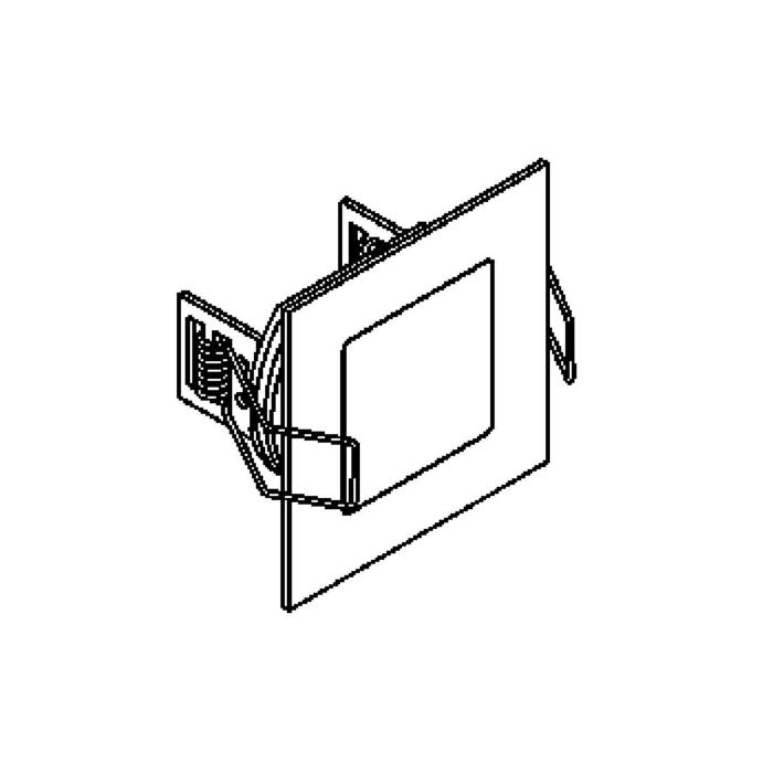 Drawing of W1358.S1/.. - CESAR, built-in ceiling and wall light - square - connection with 1,5m cable - without LED driver