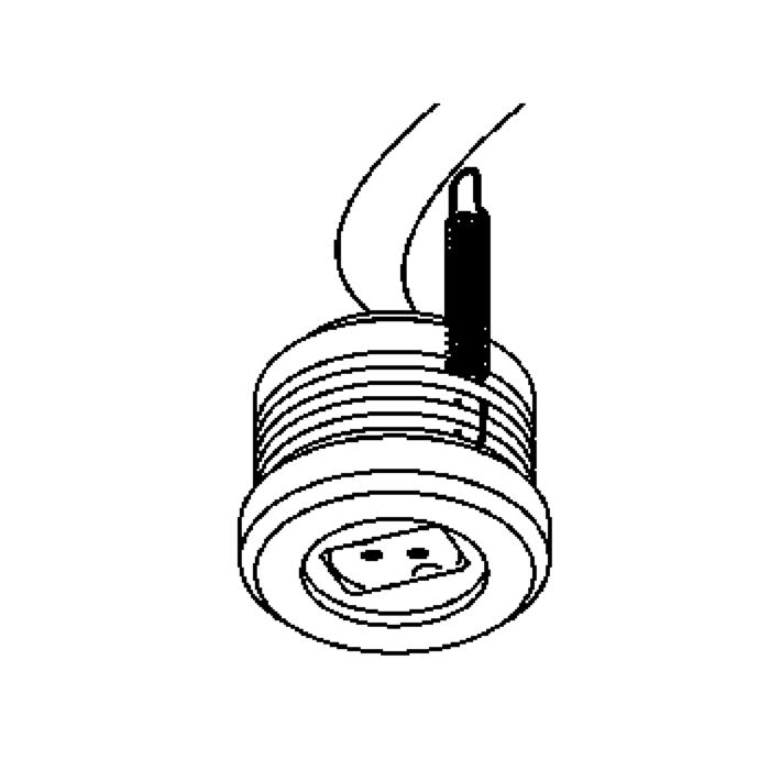 Drawing of 300V.12V/.. - FITTING IP54, supplement inbouwspot - waterdichte fitting