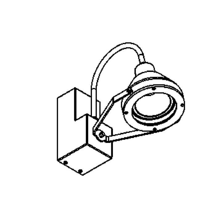 Drawing of W1208.35W/.. - EXTER, Wandleuchte für Aufbau - schwenkbar - mit elektronischem Vorschaltgerät