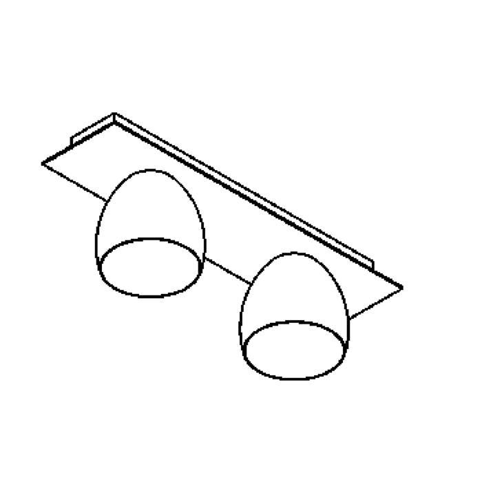 Drawing of 1912.ES50/.. - OLIVIA MINI, opbouw plafondverlichting - vast - down