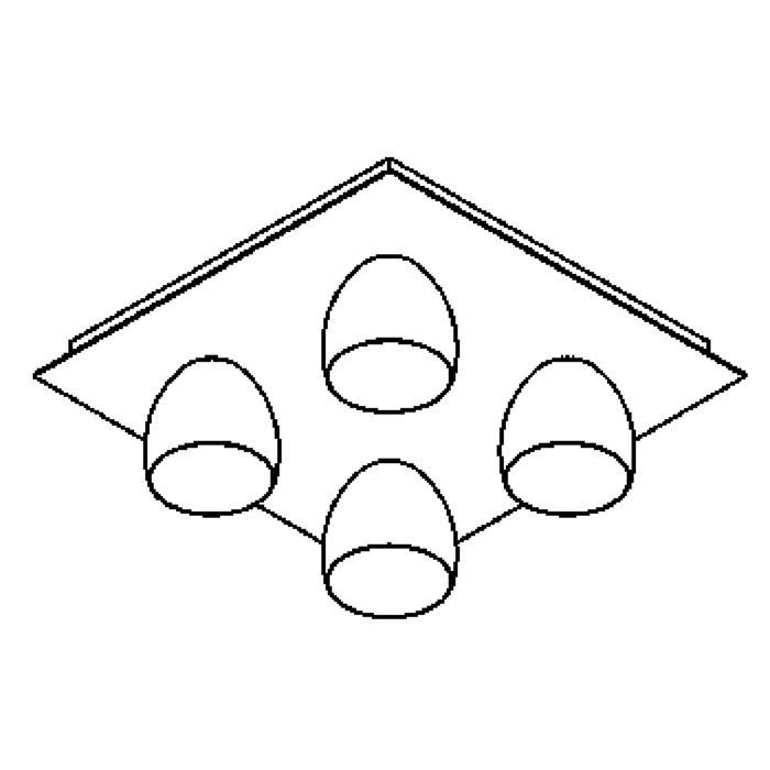 Drawing of 1915.ES50/.. - OLIVIA MINI, opbouw plafondverlichting - vast - down