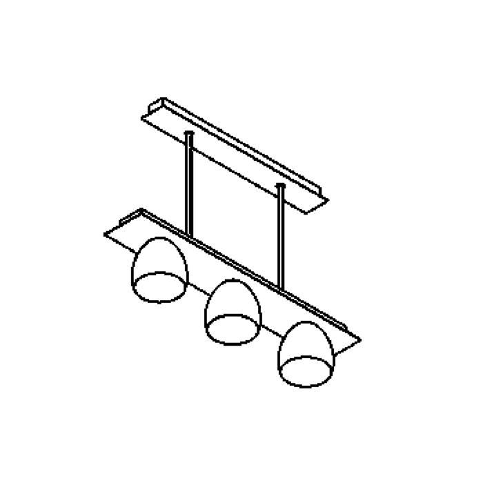 Drawing of 1919.ES50/.. - OLIVIA MINI, hanglamp met bolgewricht - stang inkortbaar