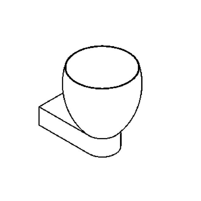 Drawing of 1920.E27/.. - OLIVIA MINI UP, opbouw wandlicht - vast - up