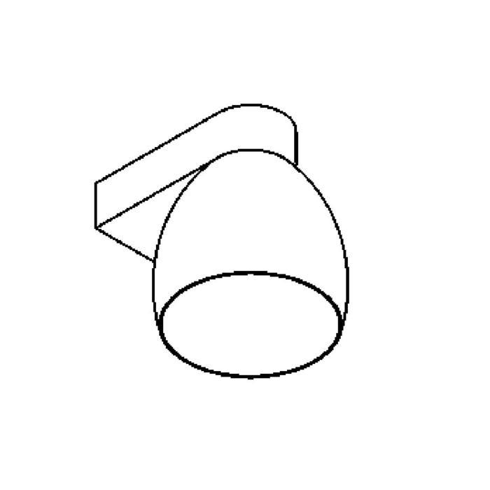 Drawing of 1921.E27/.. - OLIVIA MINI DOWN, opbouw wandlicht - vast - down