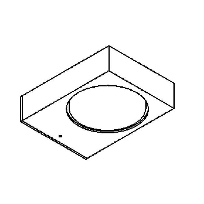 Drawing of 3076/.. - TOLEDO WALL, opbouw wandlicht - vast - down - met bevestigingsbeugel achteraan