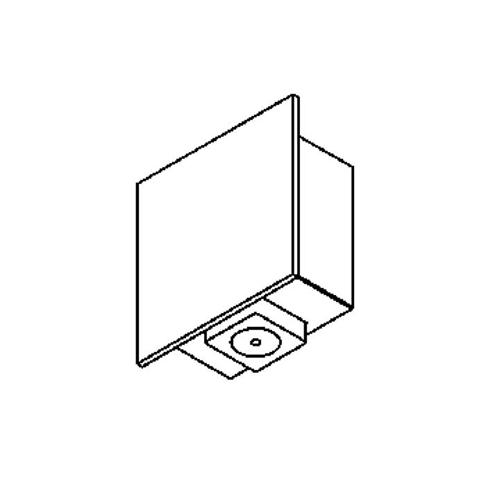 Drawing of 3078.40/.. - PLUTO, built-up wall light - down/up - with LED driver
