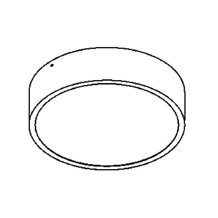 Drawing of 642.250/.. - MONET ROND, plafondverlichting - polycarbonaat - met electronische ballast