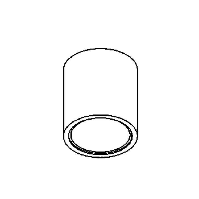 Drawing of 1760/.. - KOX, plafondverlichting voor inbouwspot Convertible System - rond - afzonderlijk te bestellen