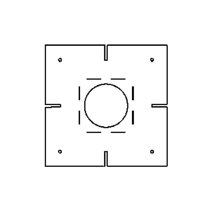 Drawing of 1808B/.. - OLIVIA-INCA plasterkit, plaasterkit - vierkant