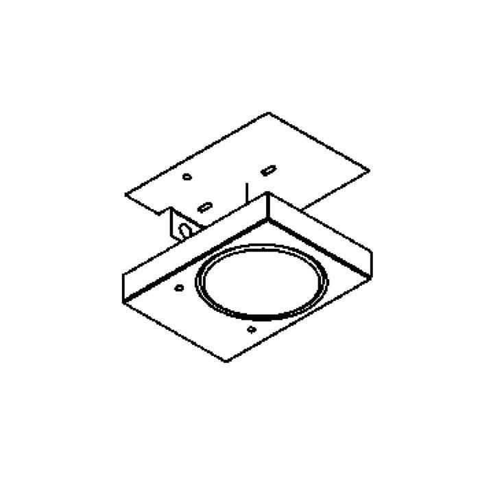 Drawing of 3076B/.. - TOLEDO, opbouw wandlicht - inox bevestiging bovenaan!