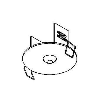 Drawing of 100.D8,3/.. - ROSETTE IN, inbouwrozet  - rond - met bolgewricht  B3