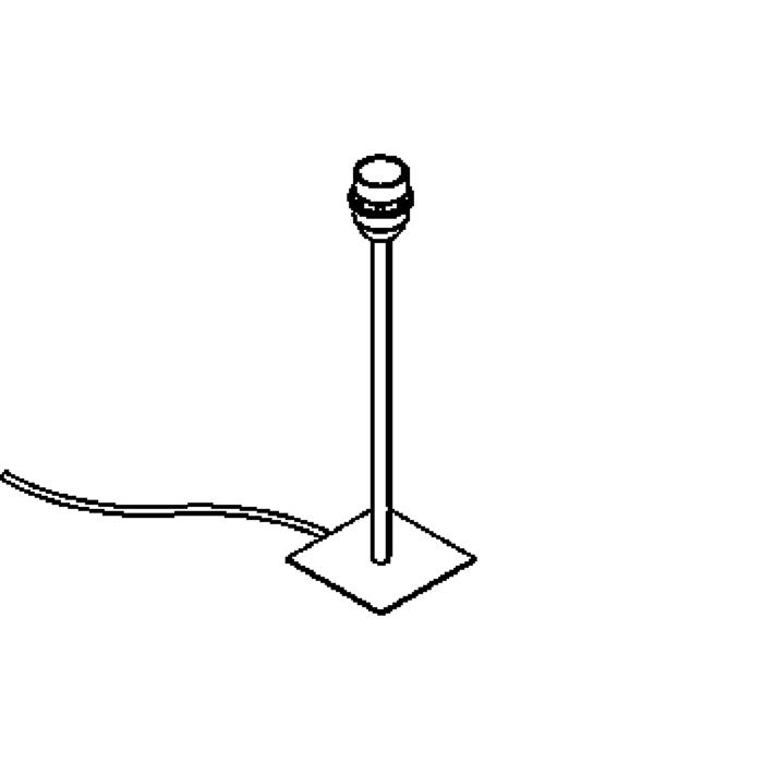 Drawing of 999A.250/.. - VOGUE, tafellamp - zonder lampenkap -  met schakelaar + snoer