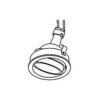 Drawing of CASDIVADOWNC/.. - CONVERTIBLE SYSTEM, inbouwcassette - rond - richtbaar - zonder transfo
